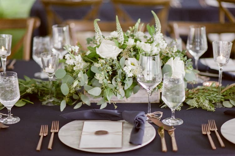 Floral Wedding Reception Details At Eaton Ranch Wedding In Vail With Bella Event Design And Planning