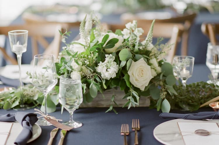 Floral Tablescape Details At Eaton Ranch Wedding In Vail With Bella Event Design And Planning
