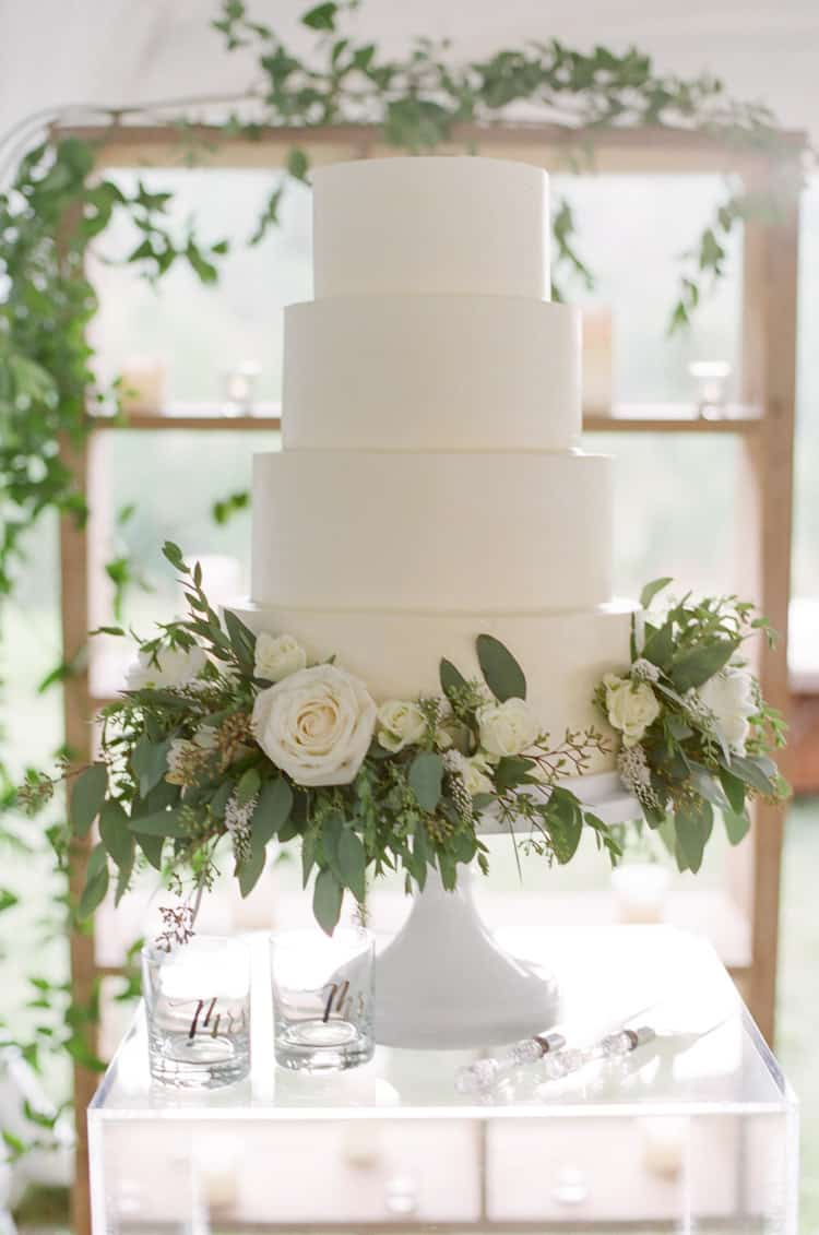 Wedding Cake At Eaton Ranch Wedding In Vail With Bella Event Design And Planning