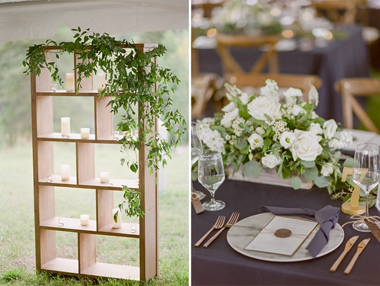 Reception details at Eaton Ranch in Vail Colroado