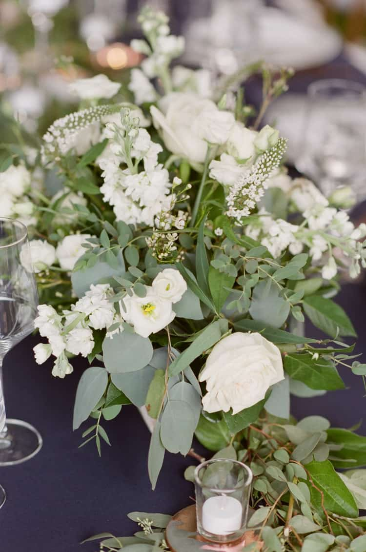 White Green Floral Details At Eaton Ranch Wedding In Vail With Bella Event Design And Planning