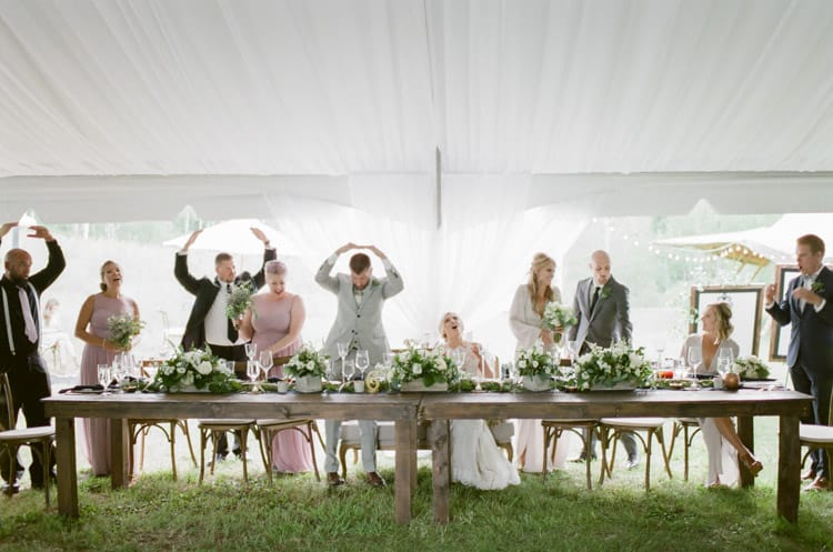 Bride And Groom Having Fun At Eaton Ranch Wedding In Vail With Bella Event Design And Planning