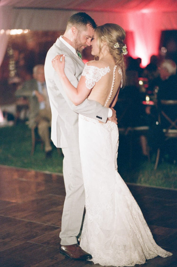 Bride And Groom Dancing At Eaton Ranch Wedding Reception In Vail With Bella Event Design And Planning