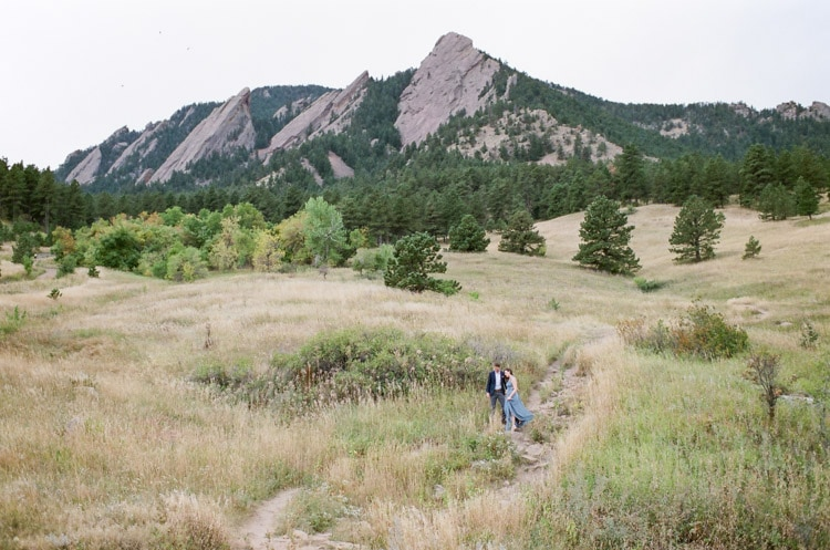 Engagement session at the Flatirons in Boulder Colorado