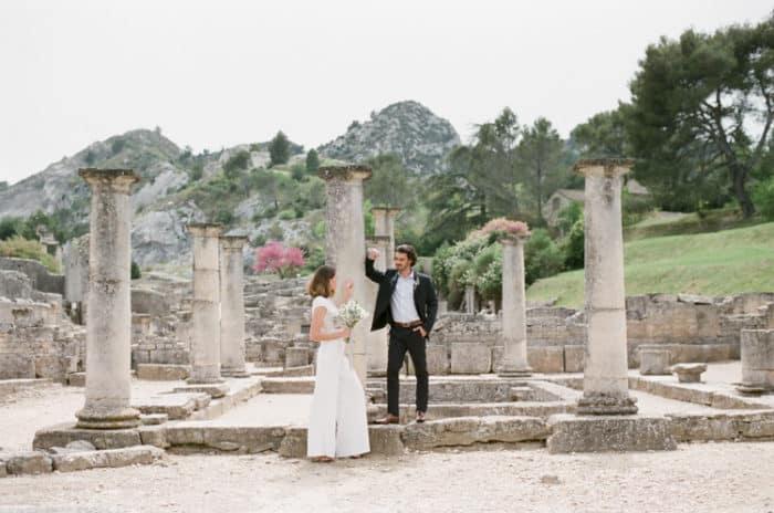 Engaged Couple Engagement Session At Glanum Ruins In Provence At Tamara Gruner Workshops