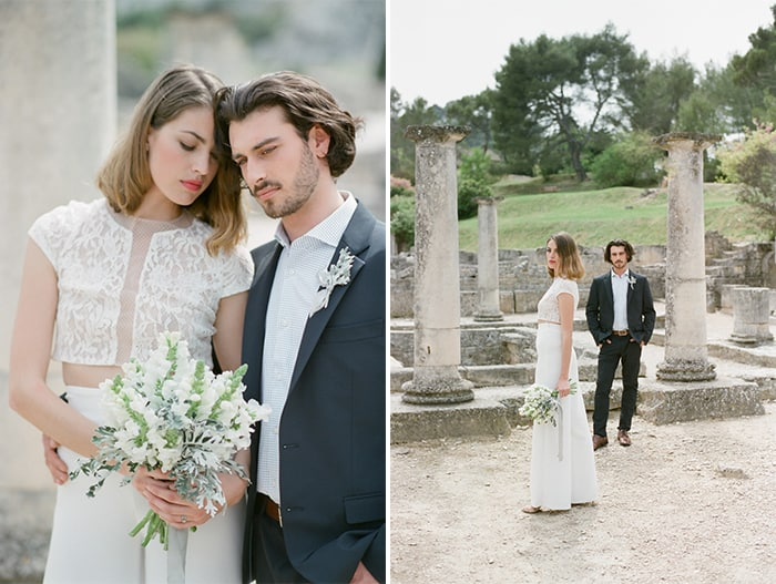 Bride To Be With Groom To Be At Glanum Ruins At Tamara Gruner Workshops