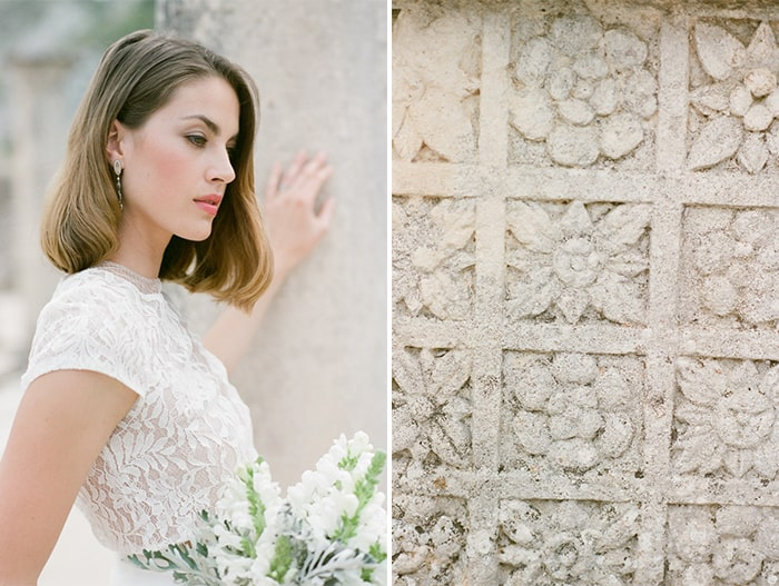 Bride Wearing Manon Gontero At Glanum Ruins At Tamara Gruner Workshops
