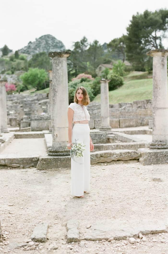 French Fine Art Wedding Photographer At Glanum Ruins At Tamara Gruner Workshops