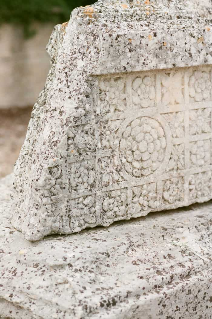 Ancient Stone At Glanum Ruins At Tamara Gruner Workshops