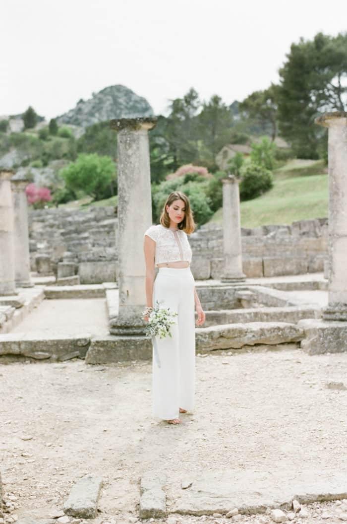 Bride at Glanum Ruins in Provence