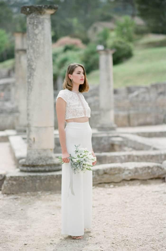 Manon Gontero Bride At Glanum Ruins At Tamara Gruner Workshops