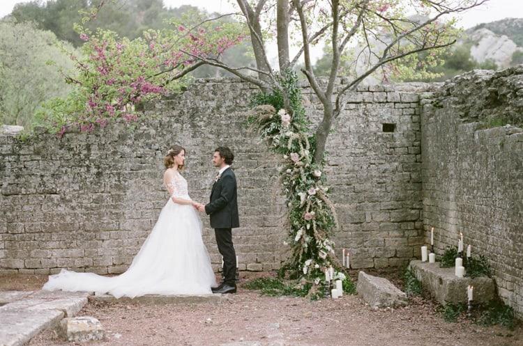 Wedding Ceremony At Glanum Ruins At Tamara Gruner Workshops
