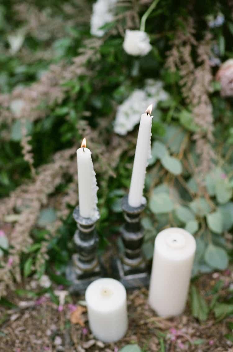 Candles At Ceremony At Glanum Ruins At Tamara Gruner Workshops