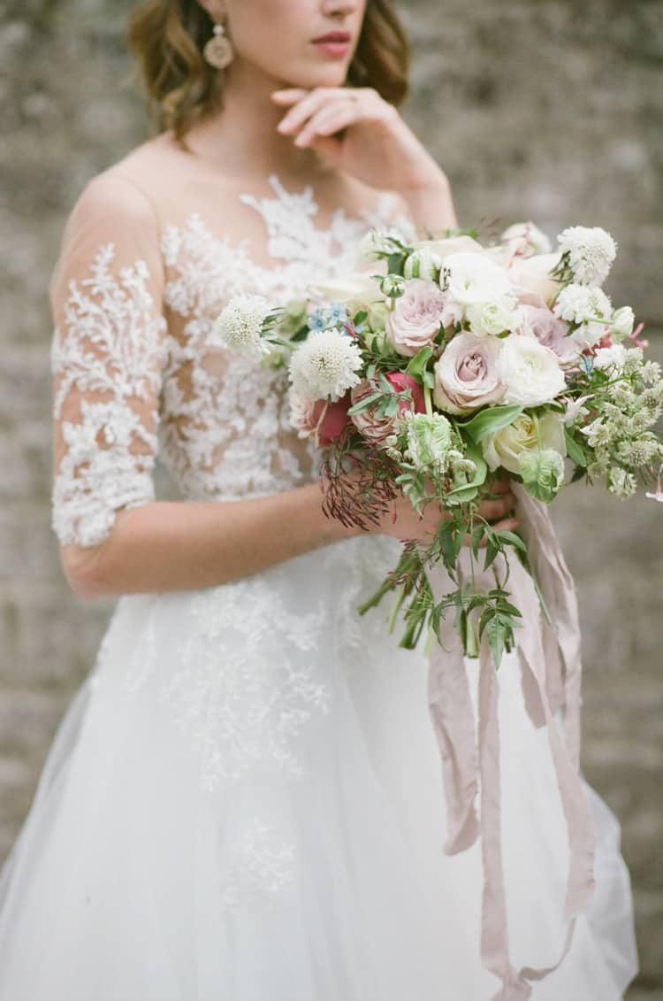 Bride With Bridal Bouquet At Glanum Ruins At Tamara Gruner Workshops