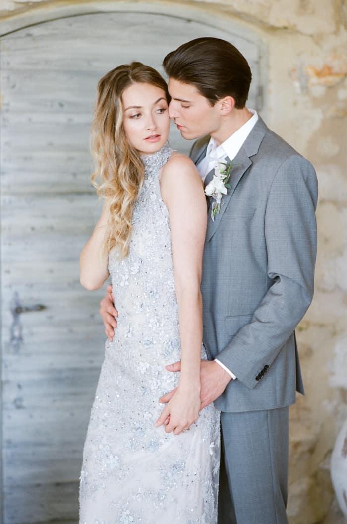 Engaged Bride With Her Groom To Be At Le Clos Saint Esteve At Tamara Gruner Workshops