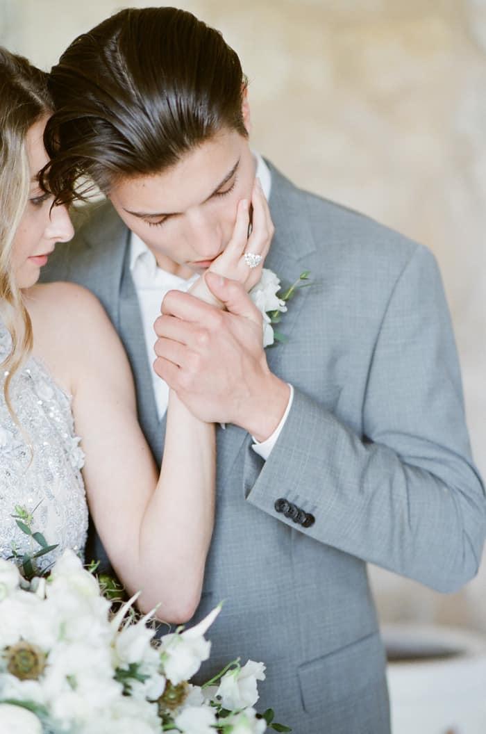 Groom Kissing His Bride At Le Clos Saint Esteve At Tamara Gruner Workshops