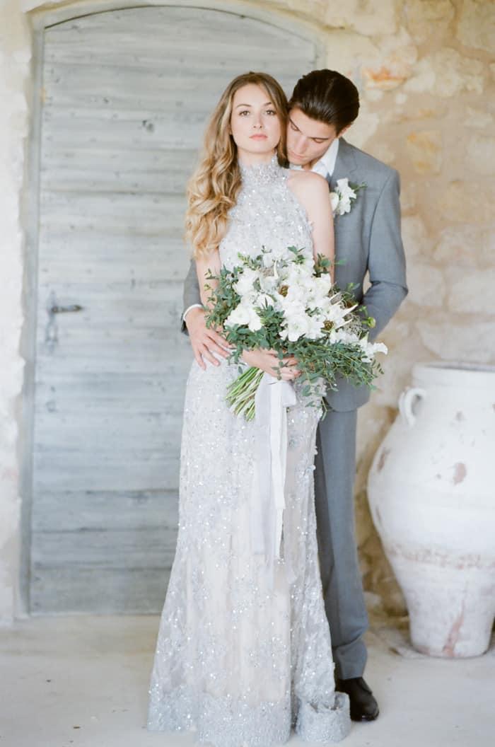 Engaged Bride With Her Fiance At Le Clos Saint Esteve At Tamara Gruner Workshops