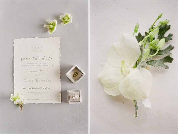 Styled Collage of Wedding Invitation Suite Details