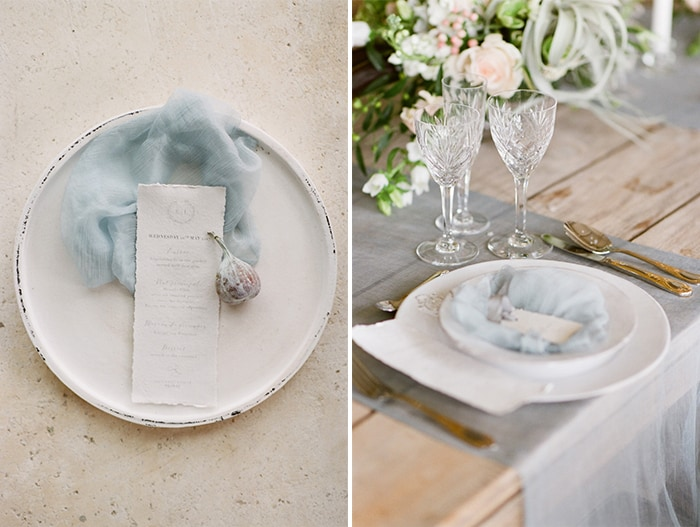 Wedding Details at reception dinner table