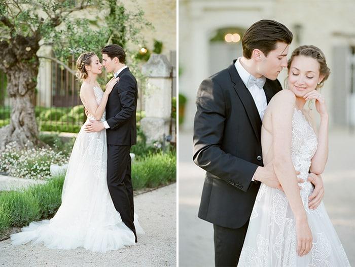 Styled summer wedding of wedding couple
