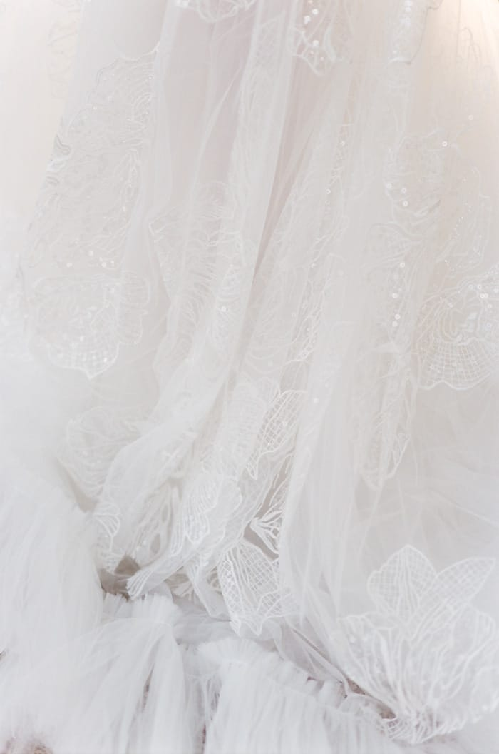 Musat Bridal wedding dress made of tulle and lace elements