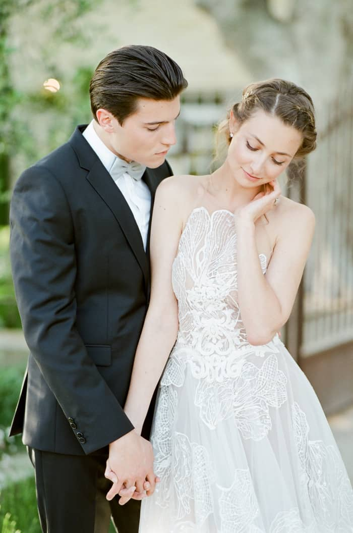 Romantic French Wedding Couple