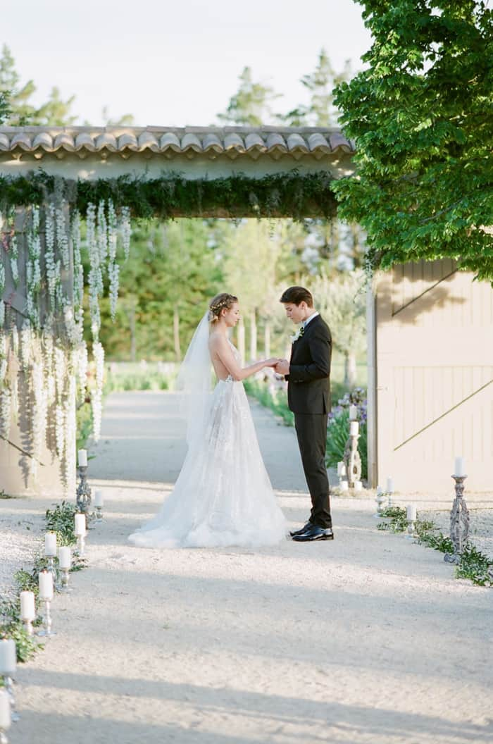 Eloping Wedding Ceremony At Le Clos Saint Esteve At Tamara Gruner Workshops