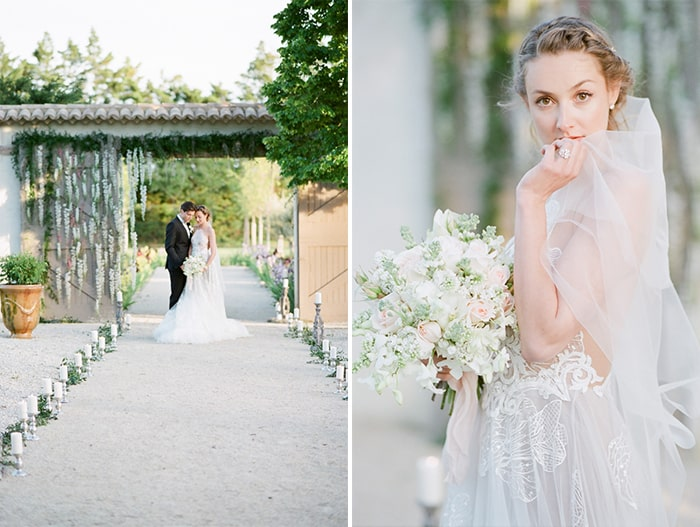 Collage of Wedding Couple At Wedding Ceremony Le Clos Saint Esteve