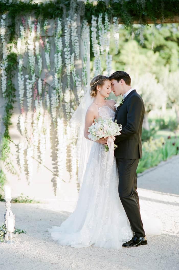 Wedding Couple Just Married At Le Clos Saint Esteve At Tamara Gruner Workshops