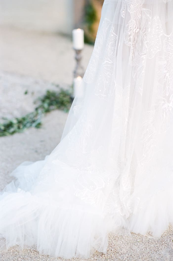 Wedding Dress Detail At Le Clos Saint Esteve At Tamara Gruner Workshops