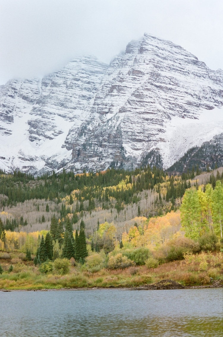 View of the Elk mountains during the Fall season