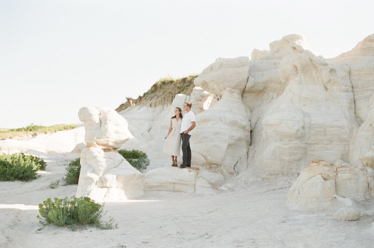 Engagement session at the Paint Mines park in Colorado