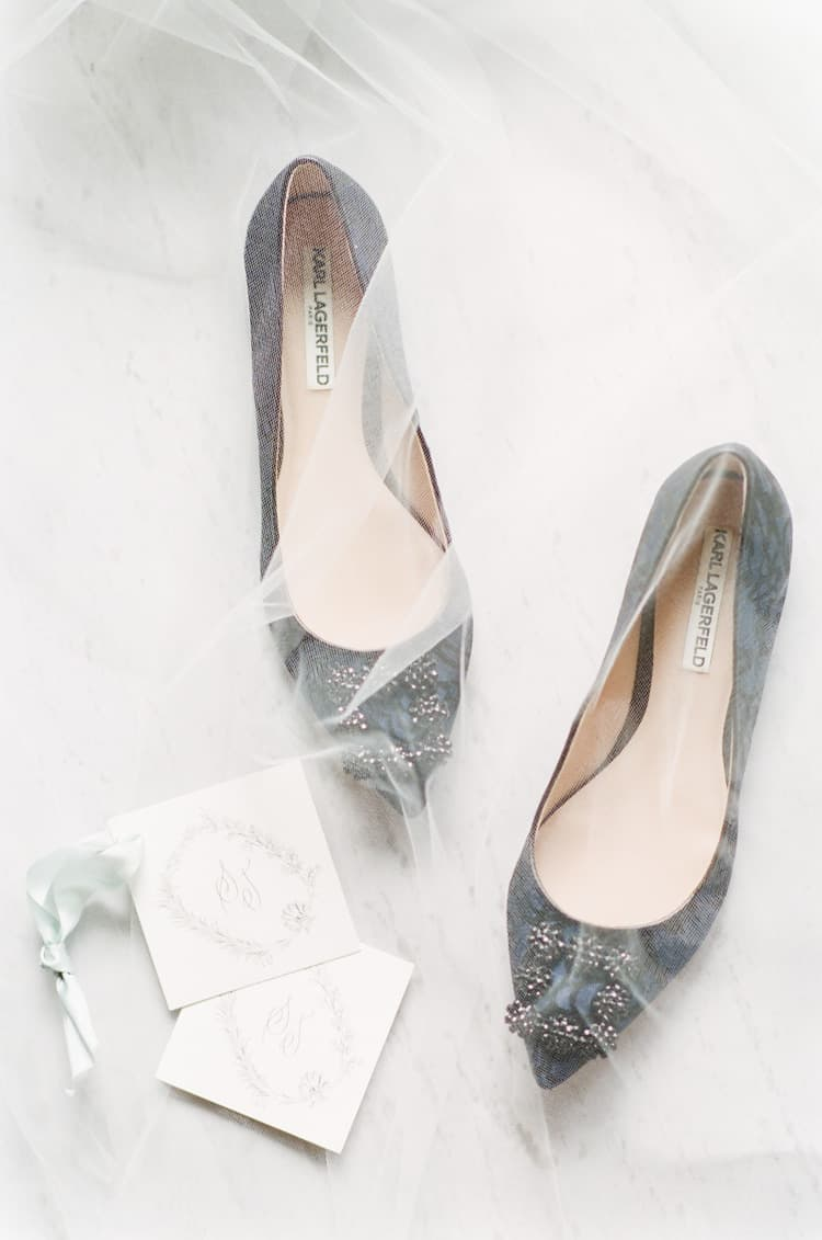 Karl Lagerfeld Shoes At Summer Wedding At Four Seasons Vail With White Birch Weddings