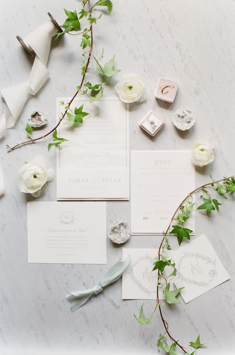 Invitation Suite At Summer Wedding At Four Seasons Vail With White Birch Weddings