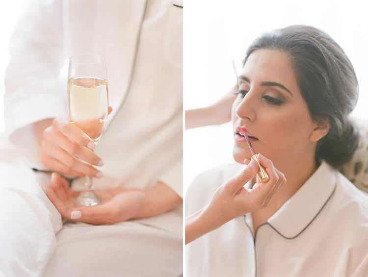 Bride Getting Ready At Summer Wedding At Four Seasons Vail With White Birch Weddings