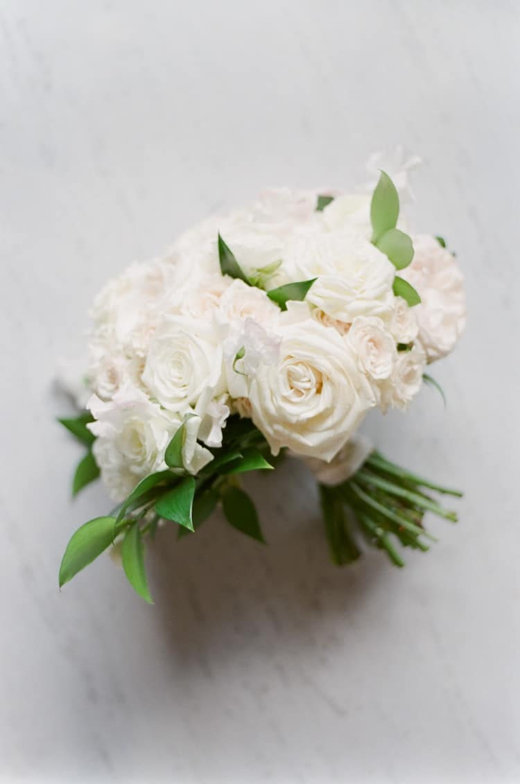White bouquet at The Four Seasons Vail