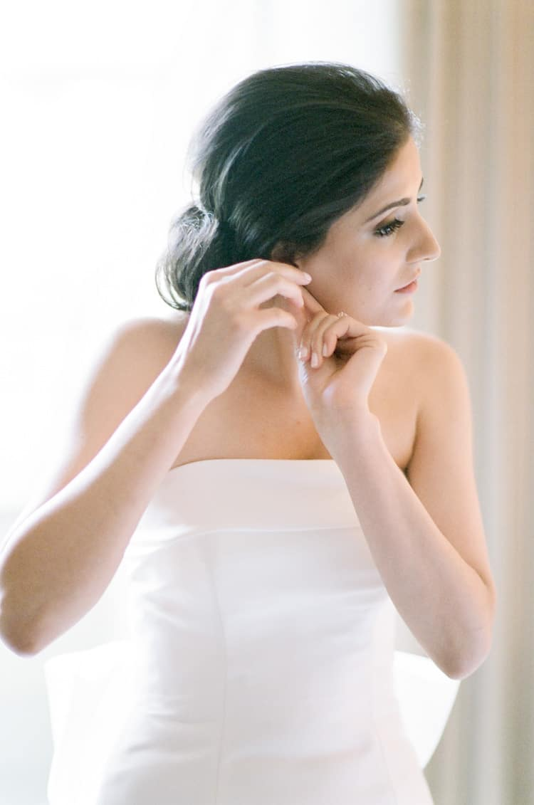 Bride getting ready for her wedding at The Four Seasons in Vail Colorado