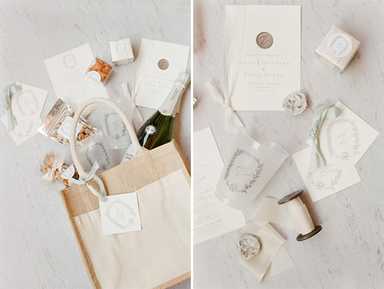 Guest Gifts At Summer Wedding At Four Seasons Vail With White Birch Weddings