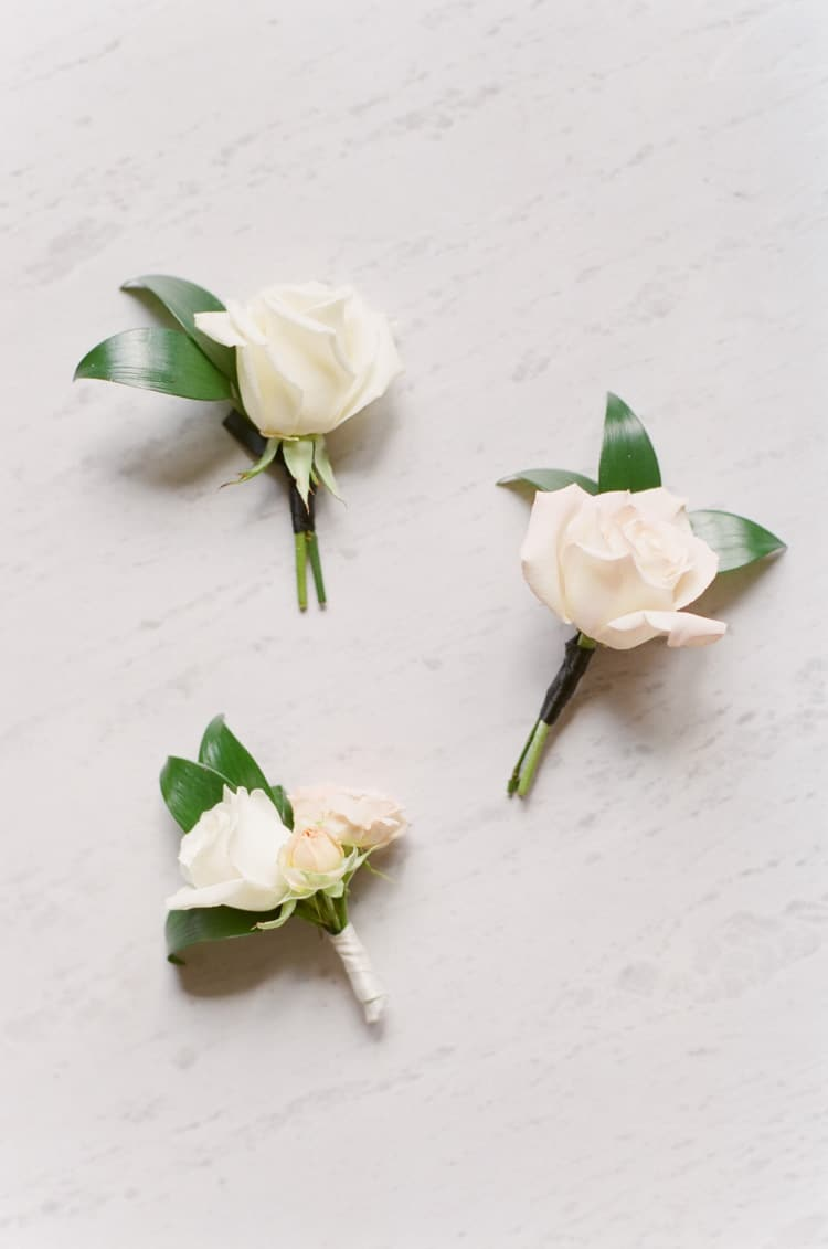 Boutonnieres At Summer Wedding At Four Seasons Vail With White Birch Weddings