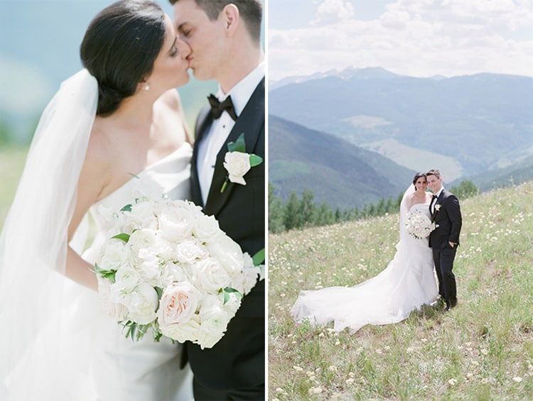 Outdoor wedding portraits at the Four Seasons Vail
