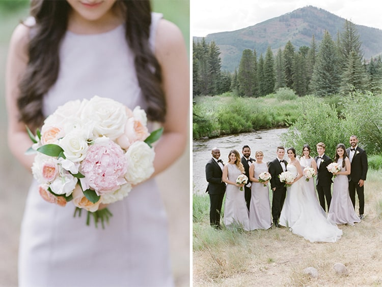 Wedding Party At Summer Wedding At Four Seasons Vail With White Birch Weddings