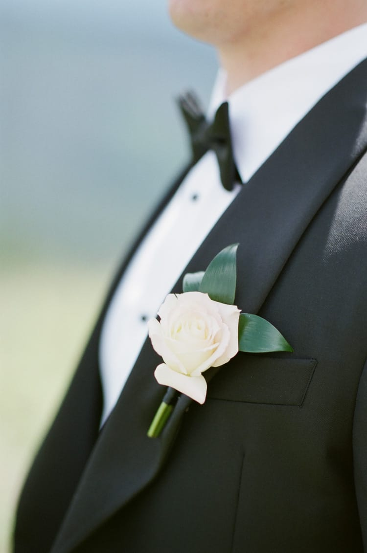 Boutonniere At Summer Wedding At Four Seasons Vail With White Birch Weddings
