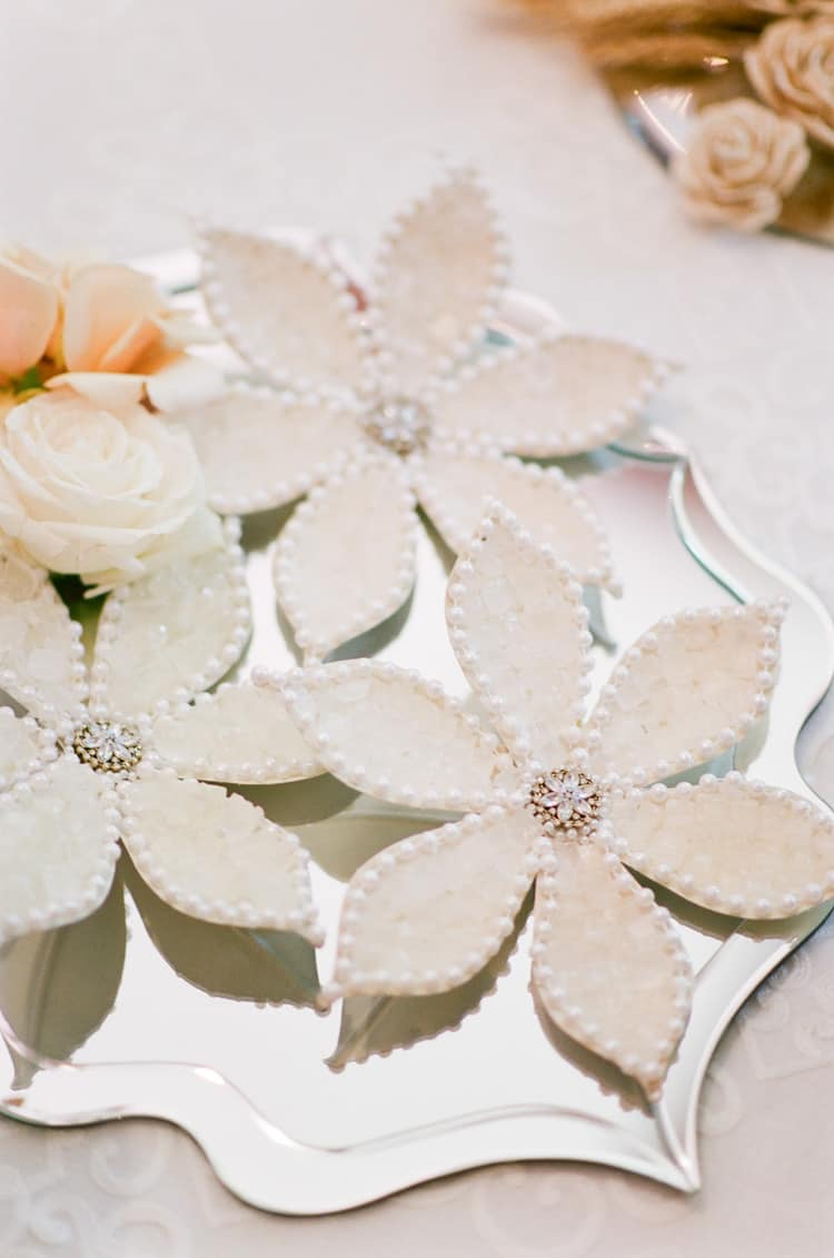 Persian wedding table details at the Four Seasons Resort in Vail