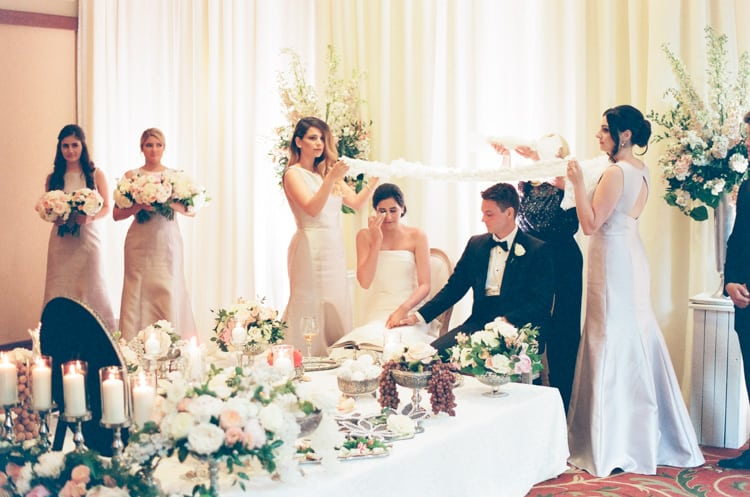 Indoor Ceremony At Summer Wedding At Four Seasons Vail With White Birch Weddings