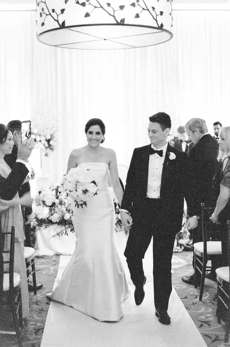 Married Couple At Summer Wedding At Four Seasons Vail With White Birch Weddings