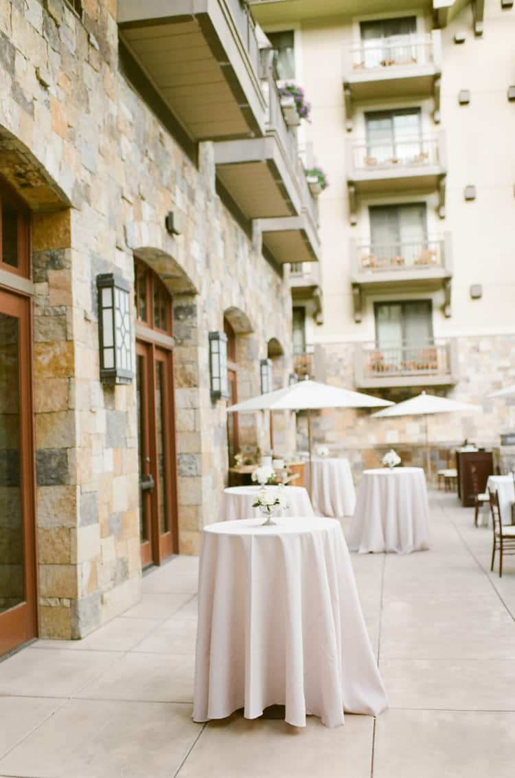 Cocktail Hour At Summer Wedding At Four Seasons Vail With White Birch Weddings