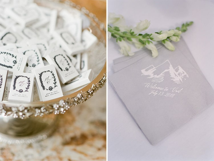 Guest Gift At Summer Wedding At Four Seasons Vail With White Birch Weddings