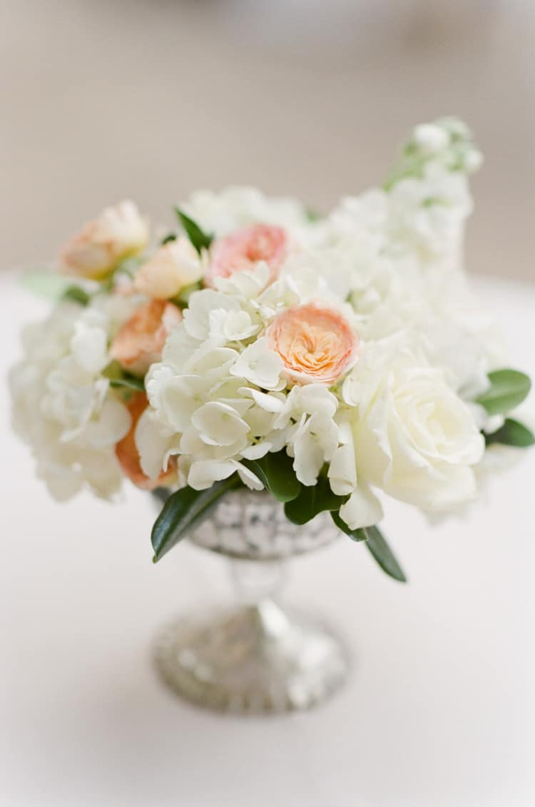 Cocktail Hour Florals At Summer Wedding At Four Seasons Vail With White Birch Weddings