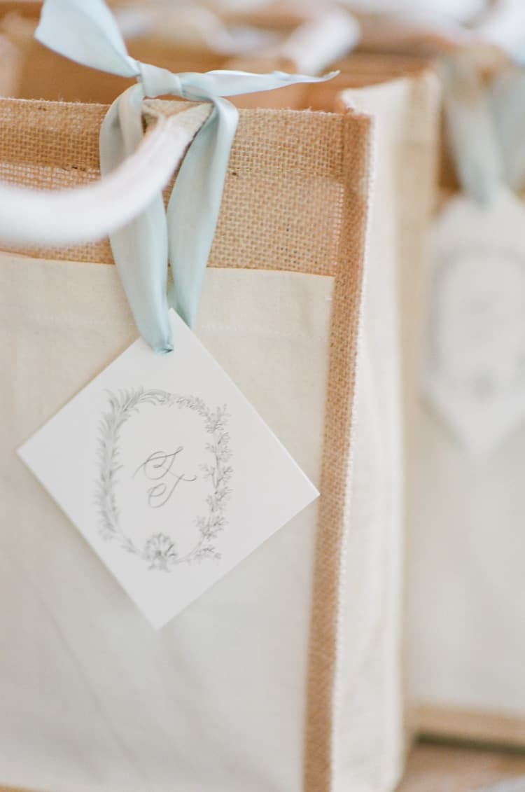 Gift Bag At Summer Wedding At Four Seasons Vail With White Birch Weddings