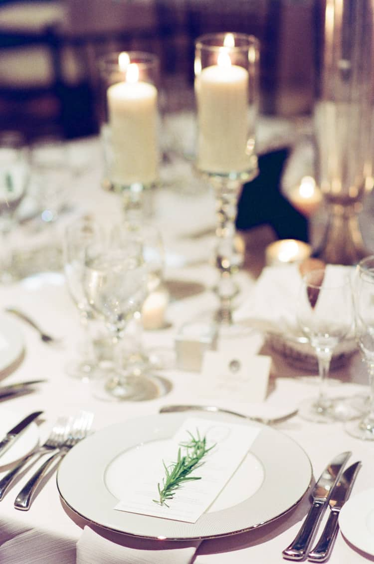 Wedding reception details at the Four Seasons Vail